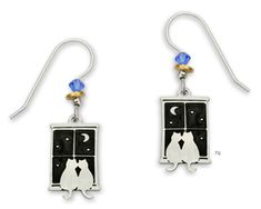 bff182b61 Kitty Cat Pals in Window Earrings by Sienna Sky Jewelry. Kitty Cat Pals in  Window Earrings. Sienna Sky Jewelry is etched from nickel silver, ...