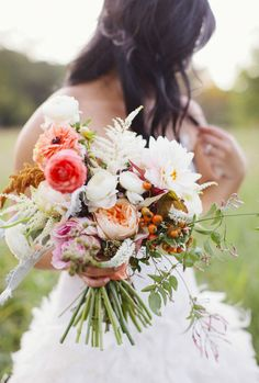 This rustic bouquet is just awesome.