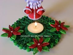 ❀ Crea Quilling ❀ : Christmas candle holders