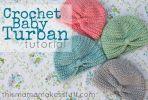 Turbante crochet para bebés