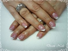 Elegant French Nails, Nail art https://www.facebook.com/dreamnailskoromstudio