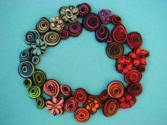 Felt Flower Necklaces | danielle gori montanelli's felted flower necklace
