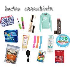 """locker essentials"" just leave these things in your locker and you'll be good to go! School Survival Kits, School Kit, Make School, School Hacks, First Day Of School, Middle School, High School, Survival Hacks, School Stuff"
