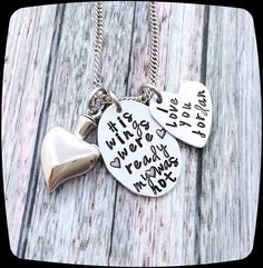 Sympathy gift memorial necklace always in my heart mom for Father daughter cremation jewelry