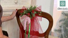 Decoración de sillas para Navidad (Tutorial) | Decoración navideña con L...