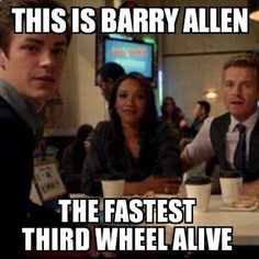 It really bothers me that Barry is the 3rd wheel. He's amazing! Why wouldn't Iris want to date him? I would.