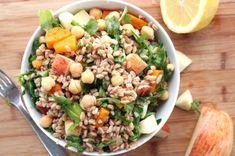 Chickpea, Sweet Potato and Apple Farro Salad