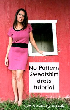 knit dress tutorial
