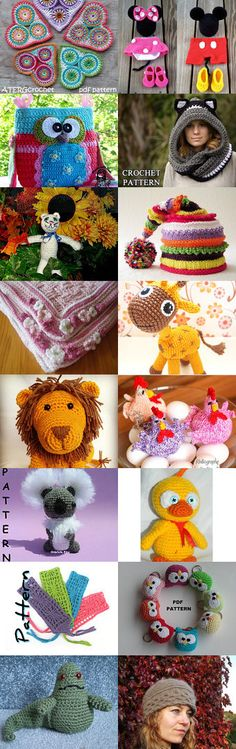 crochet and knitting patterns by Carley Marston on Etsy