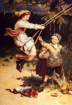 After School-Frederick Morgan (1847 – 1927, English)