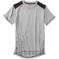 Blac Label Boys' Short Sleeve Long Tee, Size: 7, Gray
