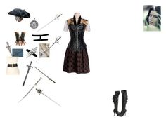 """""""France's Pirate!Twin"""" by mercy-kyle on Polyvore featuring Pleaser, Bling Jewelry and Betsey Johnson"""