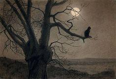Theophile-Alexandre Steinlen, Chat au Clair de Lune, c. 1900