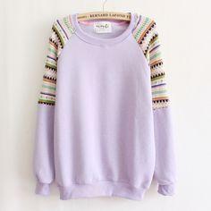 Purple Sweater Shirt Ethnic Pattern #purple-sweater #purple-sweater-shirt