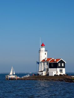 "The Paard van Marken (""Horse of Marken"") is a lighthouse on the peninsula Marken, Netherlands. It was built in 1839."