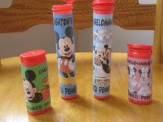 Pressed penny containers ~ mini m&m containers, mento gum containers ~ we use these every Disney trip!