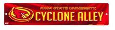 Collegiate Plastic Street Sign - Iowa State University