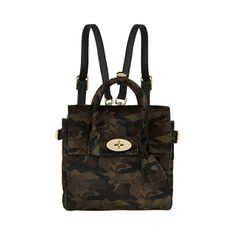 FASHION WEEK CRAVINGS - Cara Delavigne camo ponyskin backpack by Mulberry