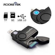Rocketek usb 3.0 메모리 카드 리더 sd 카드, tf, micro sd 카드 usb 카드 리더 어댑터 sdxc sdhc 무료 배송