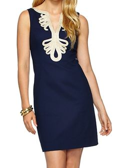 Lilly Pulitzer Janice Shift Dress in True Navy