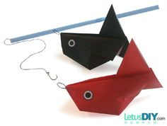 DIY paper folding - paper goldfish -----LetusDIY.ORG|DIY Everything here