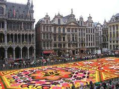 Alfombra de flores en Grand Place, Bruselas