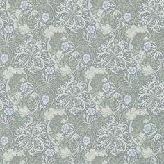 William Morris & Co Morris Seaweed 216467 Wallpaper | Silver/Ecru | Fashion Interiors | Fashion Interiors