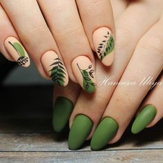In search for some nail designs and ideas for your nails? Listed here is our set of must-try coffin acrylic nails for trendy women. Cute Acrylic Nails, Matte Nails, Hair And Nails, My Nails, Olive Nails, Round Nails, Manicure E Pedicure, Nagel Gel, Green Nails