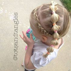 There's just something about bubble braids and warm weather that just go together. That ryhme was totally unintentional #toddlerhairideas #toddlerhair #hairforgirls #littlegirlhair #hair #hairstylesforlittlegirls #braidsforlittlegirls #braids #prettyhair #easyhairstyle #toddlersofinstagram #toddlersofIG #kidhair #instabraid #toddlerlife #cghphotofeature #hairsryles_for_girls #inspirationslbraids