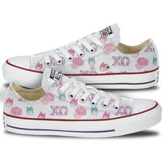 Chi Omega Converse Carnation Low Top