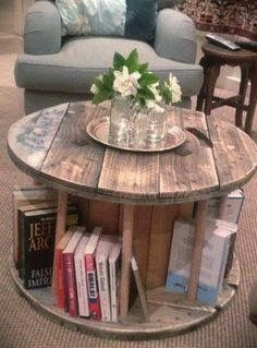 DIY repurpose spool table