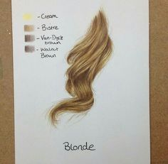 Blonde hair art tutorial