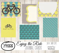 Free Enjoy the Ride Journal Cards for Project Life