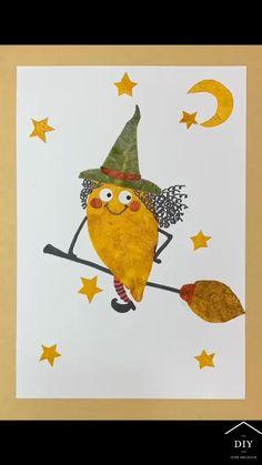 Diy Wall Art, Diy Art, Preschool Crafts, Diy Crafts For Kids, Leaf Crafts, A Silent Voice, Leaf Art, Nature Crafts, Diy Crafts Videos