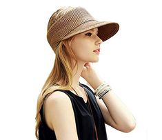 2016 New Fashion Women Lady Foldable Roll Up Sun Beach Wide Brim Straw  Visor Hat Cap Leisure hat visor caps baseball hat 8020b6d3dd14
