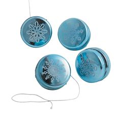 Mini Metallic Snowflake Yo-Yos - OrientalTrading.com
