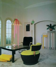 April Greiman's apartment. From Freestyle, 1986.