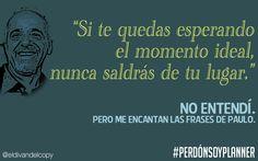 WALLPAPER de PLANNER: I <3 Paulo Coelho.