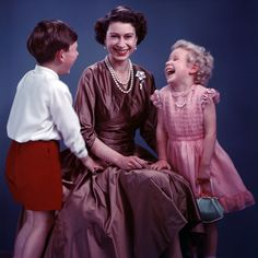 Queen Elizabeth with Prince Charles and Princess Anne beautifully shot by Marcus Adams