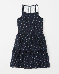 girls chiffon tiered dress   girls dresses & rompers   Abercrombie.com
