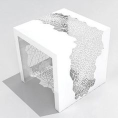 Designed by Chris Kabatsi and manufactured by Arktura the Hive Table is a table that can easily grab some eyeballs This Hive Table is beautifully designed and cut with lasers into an unique cellular design The attraction of the Hive Side Table is i - # 3d Modelle, Classic Wedding Invitations, Event Invitations, Wedding Stationery, 3d Prints, Deco Design, Home And Deco, Invitation Design, Invitation Ideas