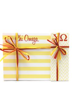 "Chi Omega 3"" x 8"" and 8"" x 8"" Note Pads"