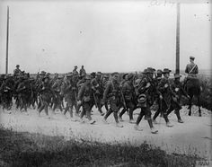 2nd Australian Division marching to take part in Battle of Pozieres, 16 July 1916