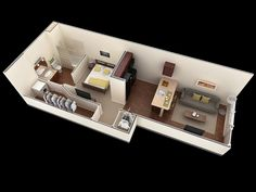 small-simple-one-bedroom