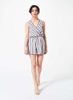 d1a20ed12f0 Jumpsuits   Rompers · Miss Selfridge Petites Stripe Playsuit Ladies UK Size  4 Box45 72 J  fashion  clothing