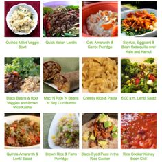 Lots of rice cooker/pressure cooker recipes