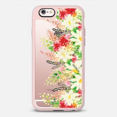 flower garden - New Standard iPhone 6 phone case in Pink Gray and Clear by @HaliesReverie #phonecase #floral #floralprint #protective | @casetify