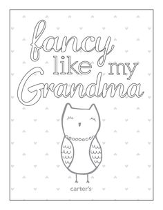 Grandparent's Day is Sunday, Sept. 7th! Download this and more free printables from Carter's to celebrate.