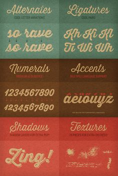 Thirsty rough - vintage script font family