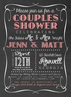 Superb You Canu0027t Go Wrong With These Fantastically Vintage Inspired Chalkboard Couples  Wedding Shower Invitations.    See This Awesome Article Invitation